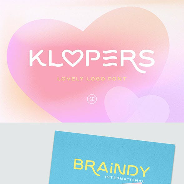 Klopers - Lovely Logo Font