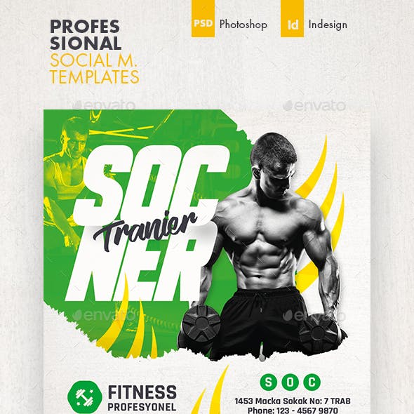 Fitness Trainer Social Media Templates