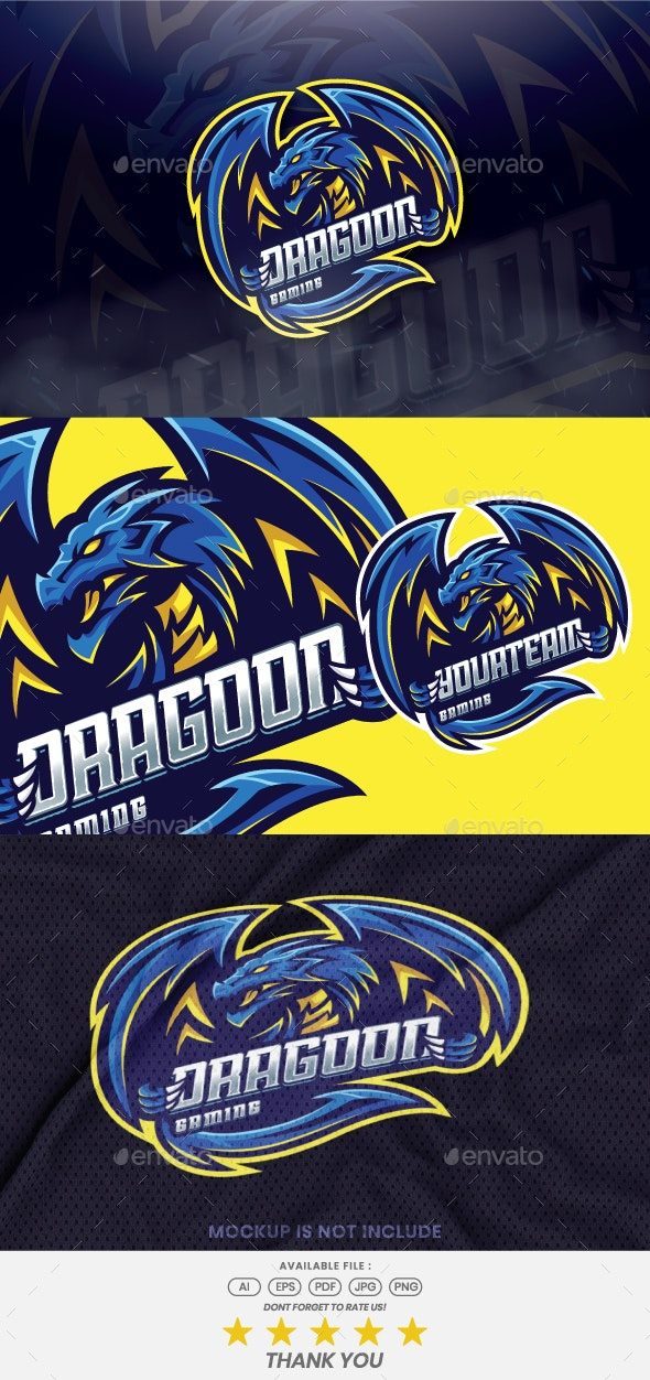 Dragoon Mascot Esport Logo - Animals Logo Templates