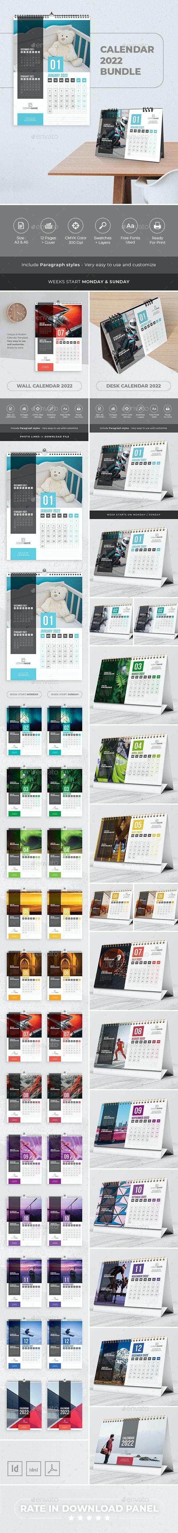 Calendar 2022 Bundle V05 - Calendars Stationery