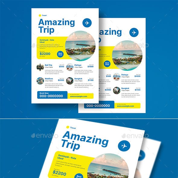 Holiday Travel Trip Flyer