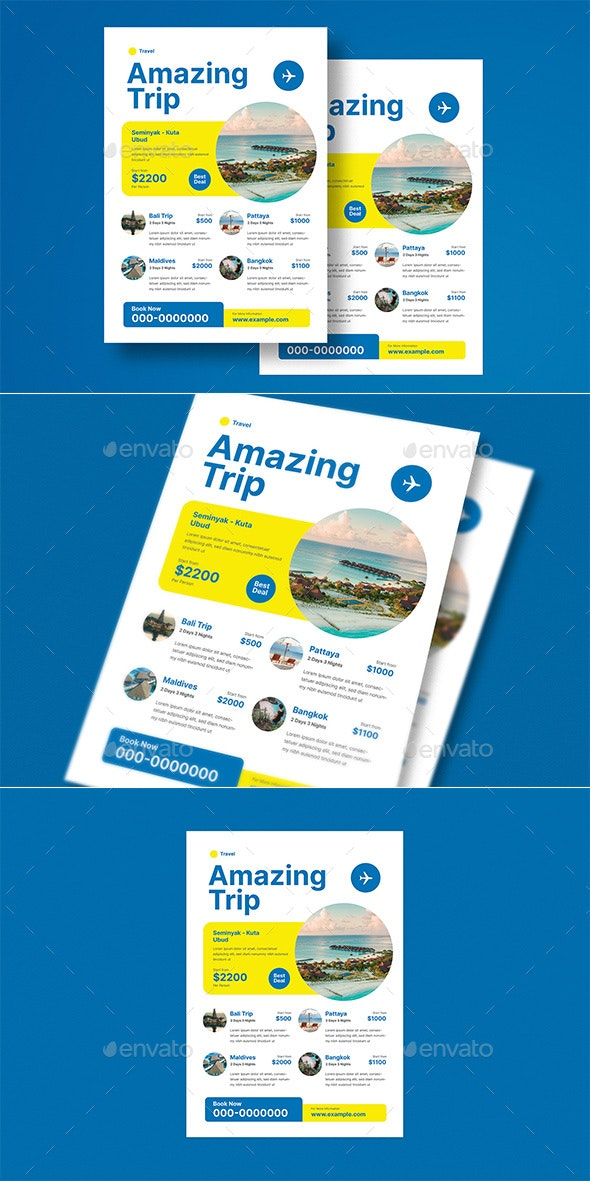 Holiday Travel Trip Flyer - Commerce Flyers
