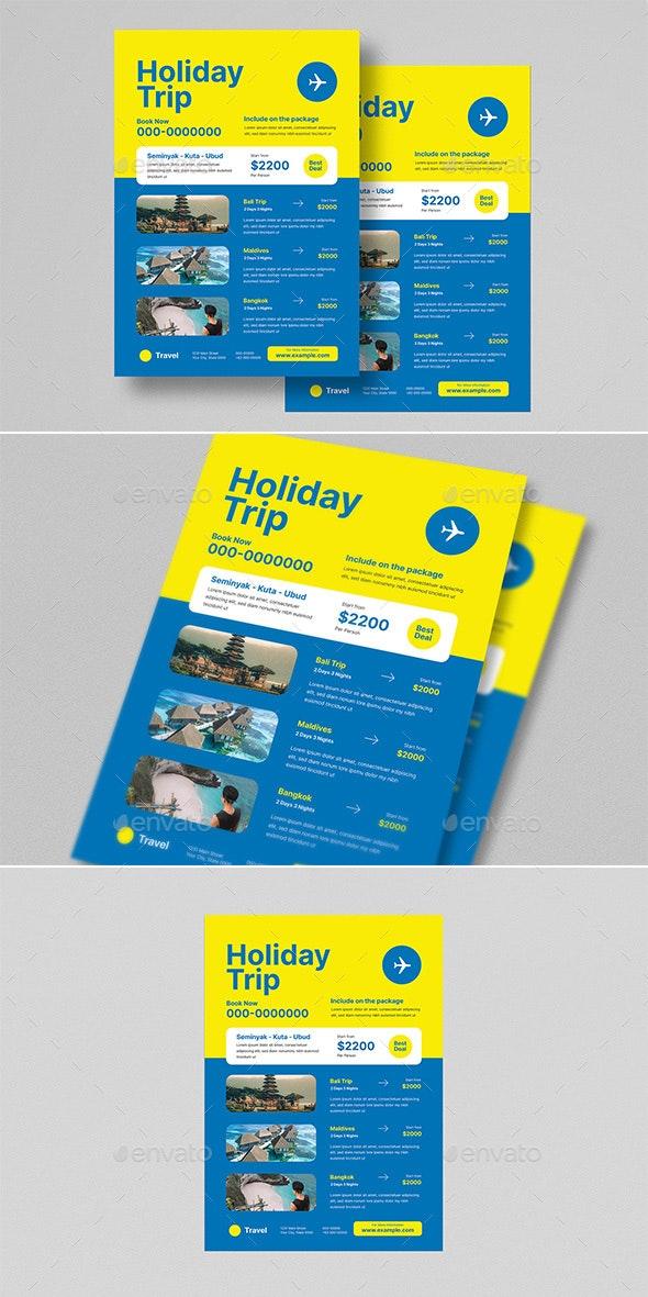 Holiday Trip Travel Flyer - Flyers Print Templates