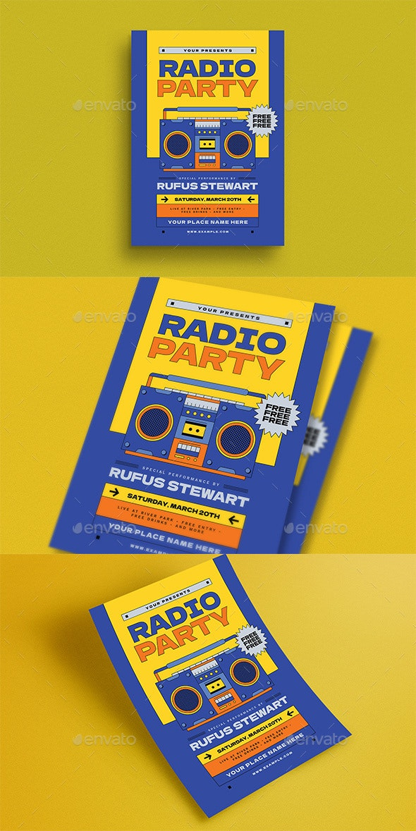 Radio Event Flyer - Events Flyers
