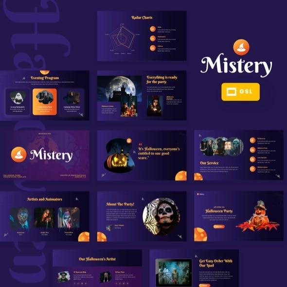 Mistery - Halloween Theme Google Slides Template