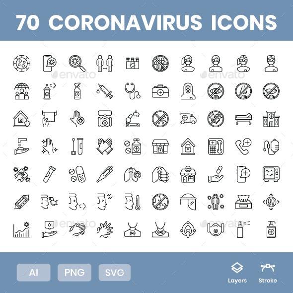 Coronavirus - Icons Pack