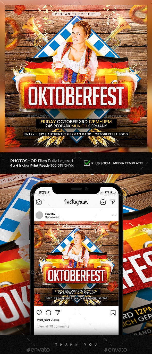 Oktoberfest Flyer - Holidays Events