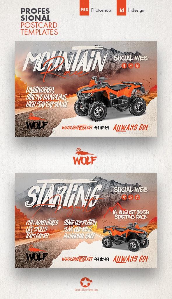 Atv Racing Postcard Templates - Cards & Invites Print Templates