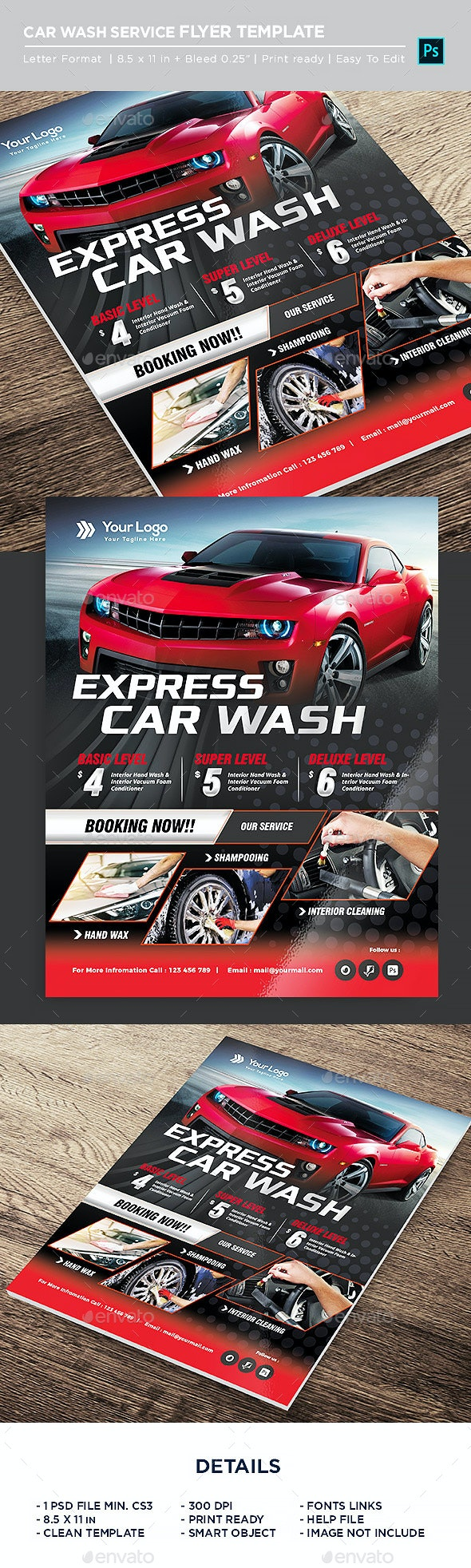 Express Car Wash Flyer - Corporate Flyers