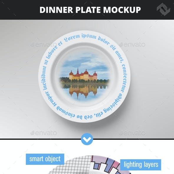 Basics Dinner Plate Design Mockup