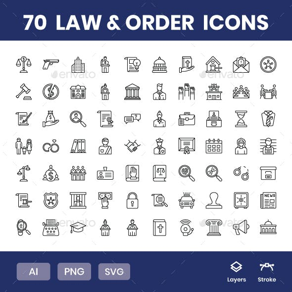 Law & Order - Icons Pack