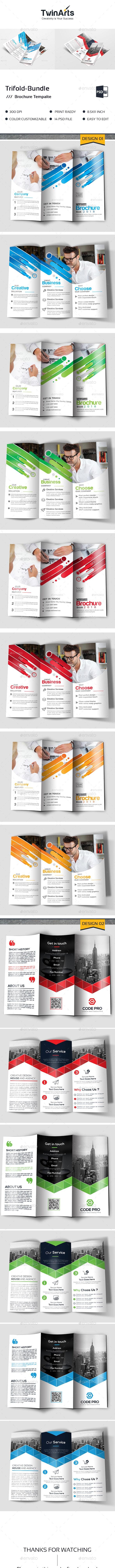 Trifold Bundle - Brochures Print Templates