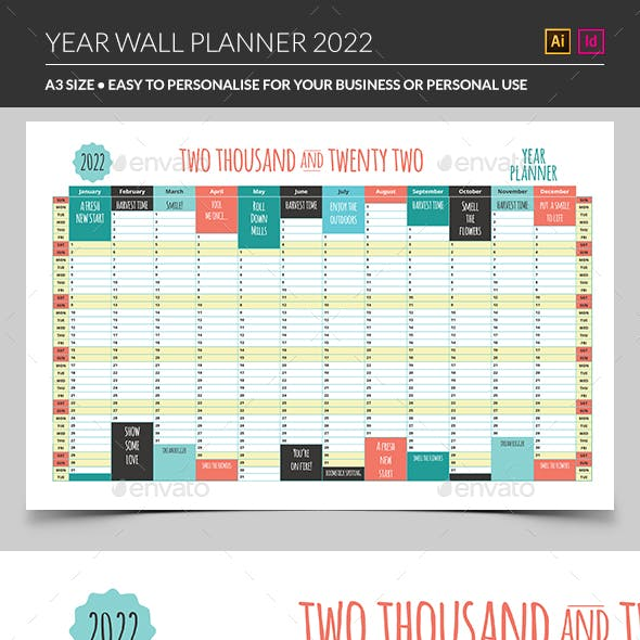 2022 Year Wall Planner