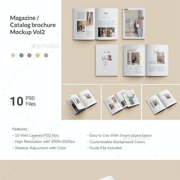 Magazine / Catalog Brochure Mockup Vol2