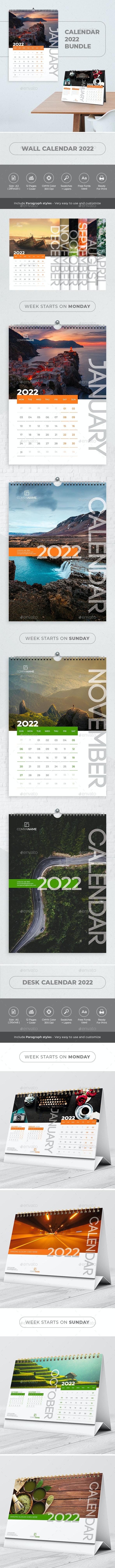 Calendar 2022 Bundle - Calendars Stationery