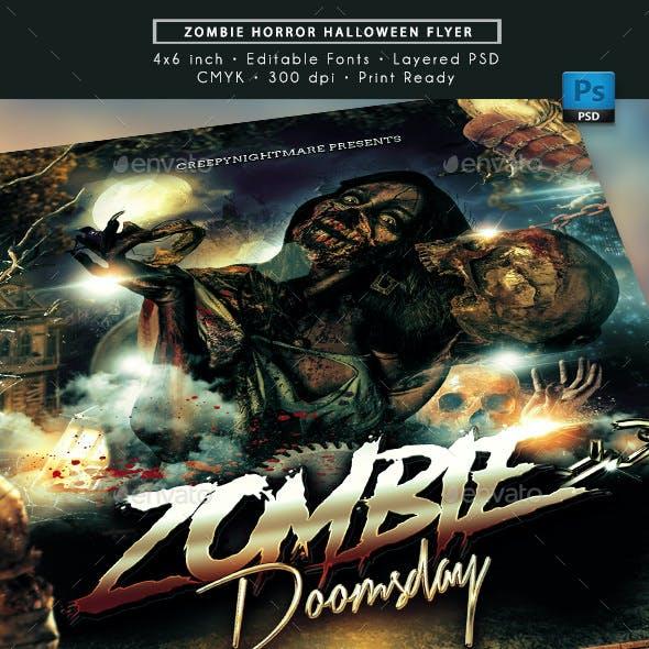 Horror Zombie Halloween Flyer