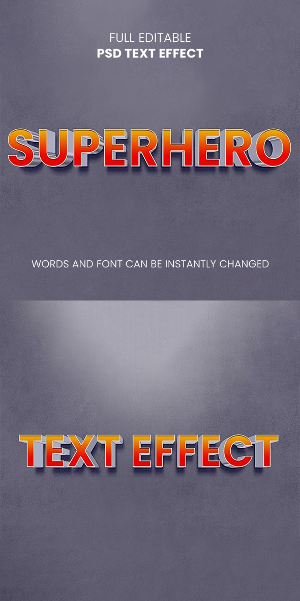 Superhero Text Effect - Text Effects Actions