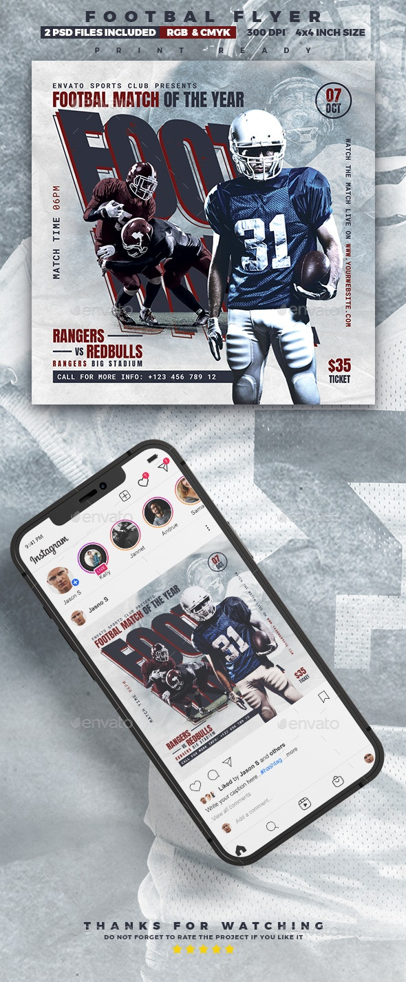Football Flyer | Sport Event - Sports Events