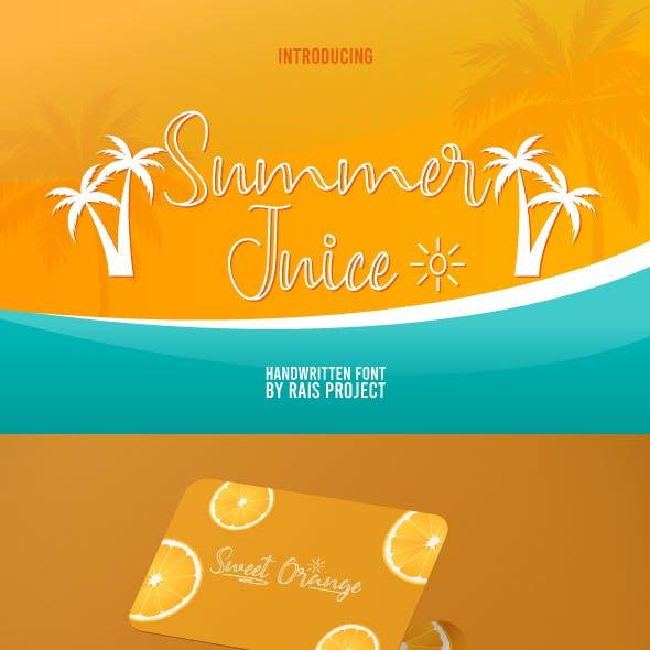Summer Juice Handwriting Font