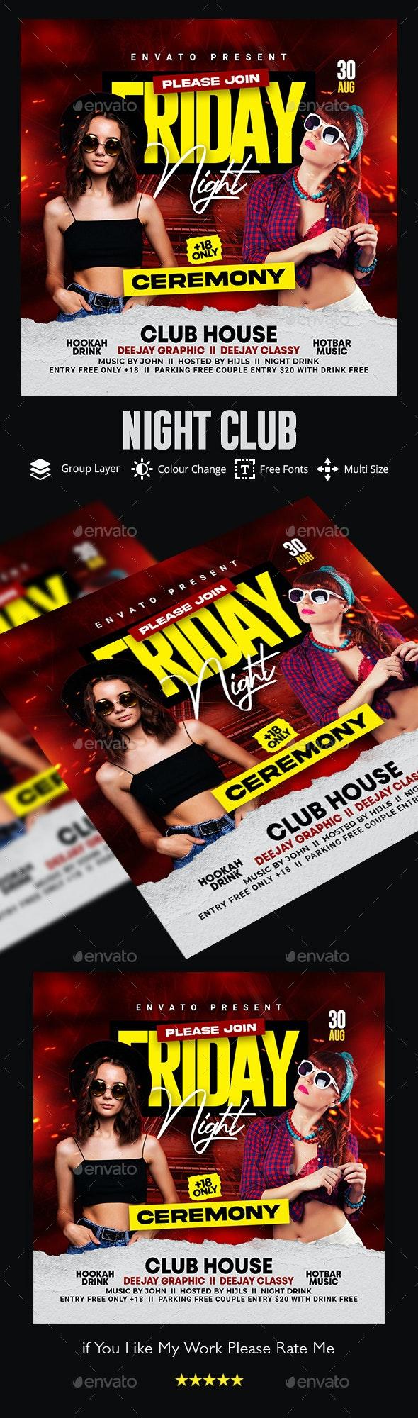 Night Club Flyer - Flyers Print Templates