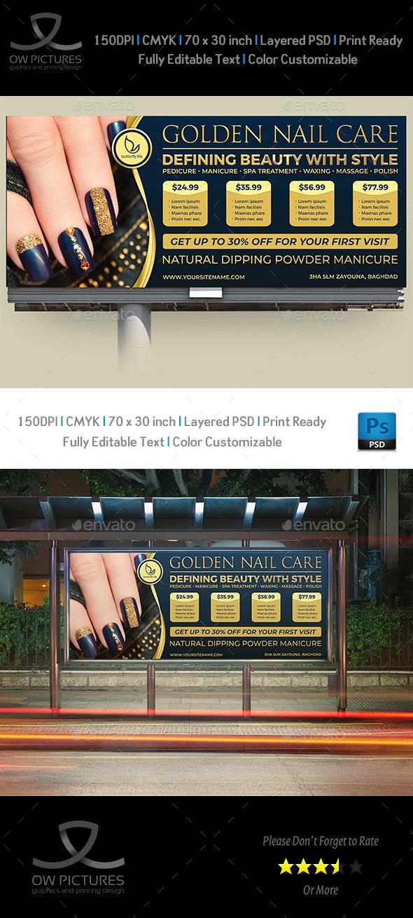 Nail Salon Billboard Template Vol.2 - Signage Print Templates