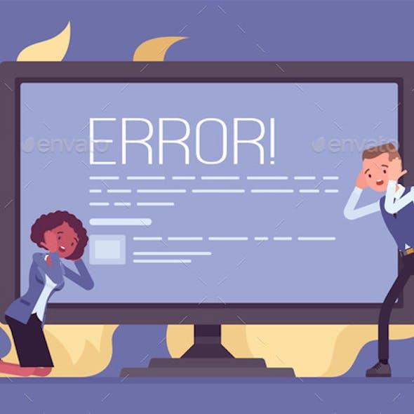 Computer Blue Screen of Death Stop Error Fatal