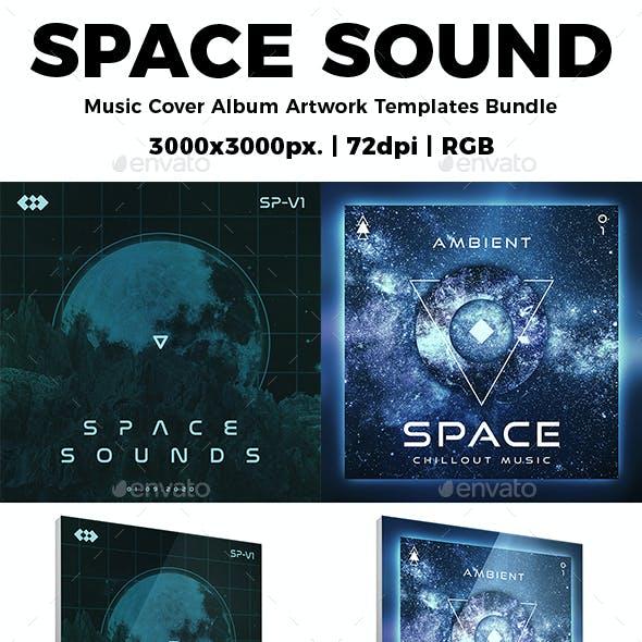 Space Sound Music Cover Album Artwork Templates Bundle