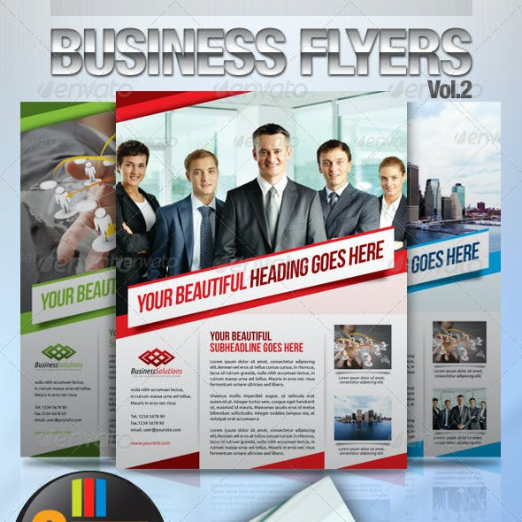 Simple & Clean Corporate Flyers Vol.2