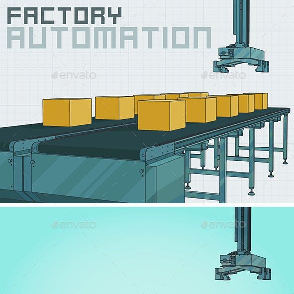 Automated Conveyor Lines Mini Set