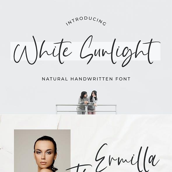 White Sunlight - Brush Handwritten