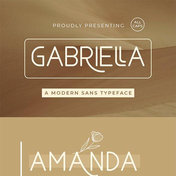 Gabriella - Modern Sans Serif