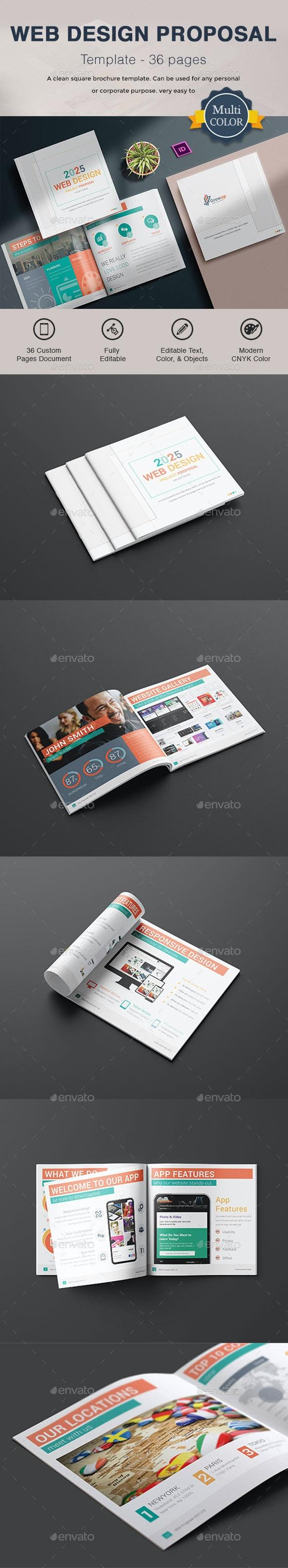Web Design Proposal - Corporate Brochures