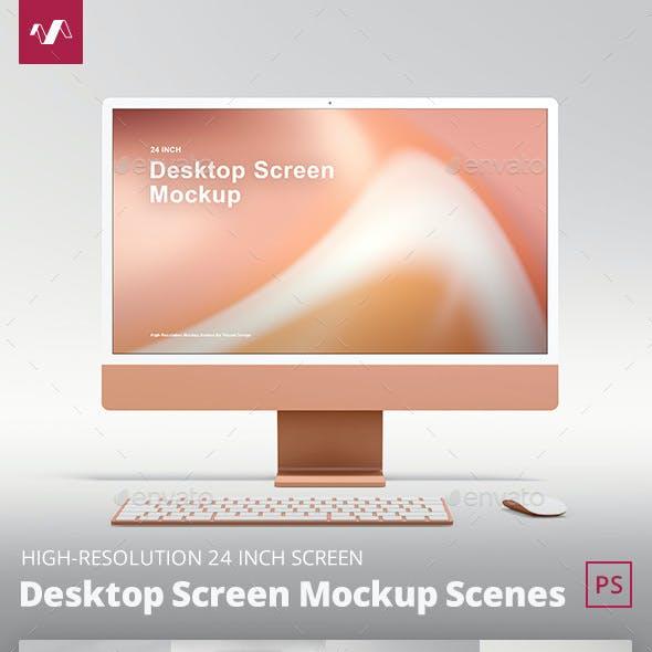 Desktop Screen Mockup Scenes