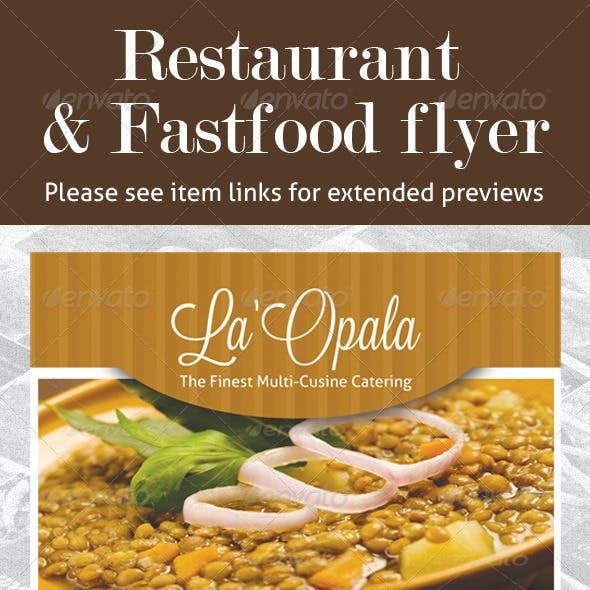 Restaurant & Fast Food Flyer PSD Template Bundle