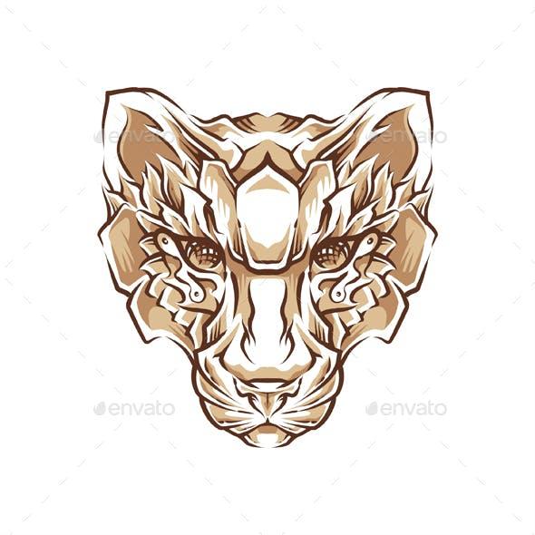 Tiger Head Illustration