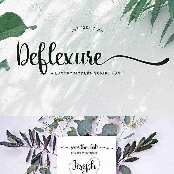 Deflexure - A Luxury Modern Script Font