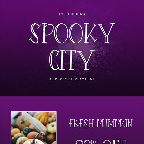 Spooky City - A Spooky Display Font