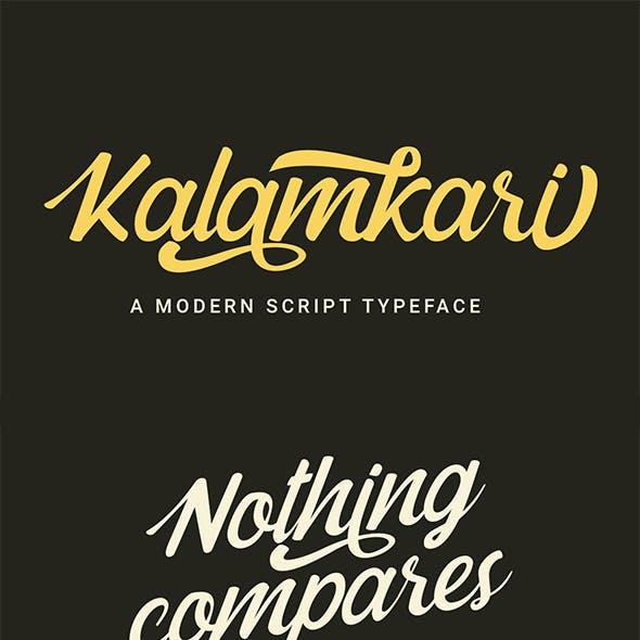 Kalamkari - A Modern Script Typeface