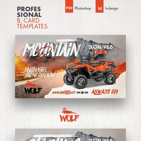 Atv Racing Business Card Templates