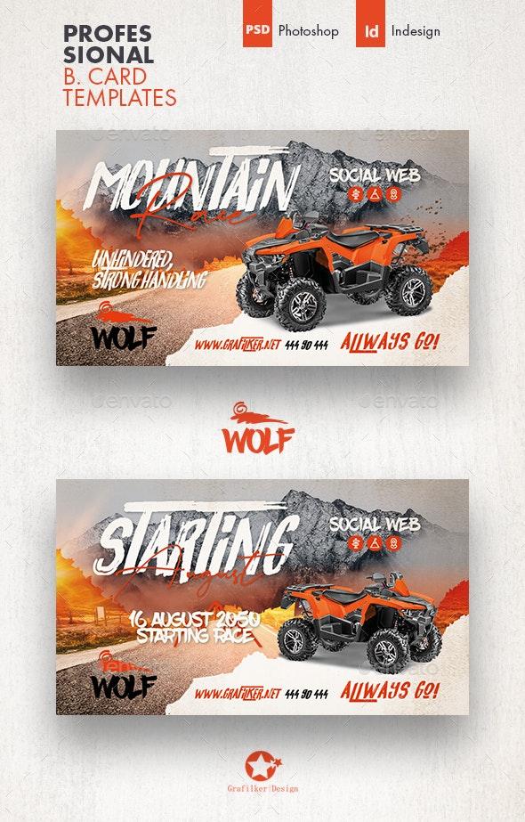 Atv Racing Business Card Templates - Corporate Business Cards