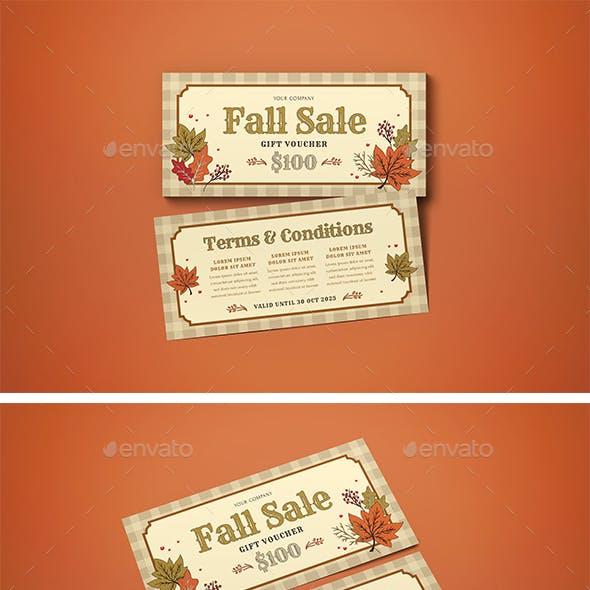 Voucher Fall Sale