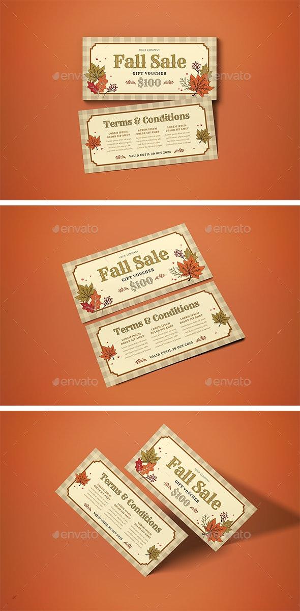 Voucher Fall Sale - Miscellaneous Print Templates