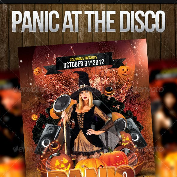 Panic at the Disco Halloween Flyer