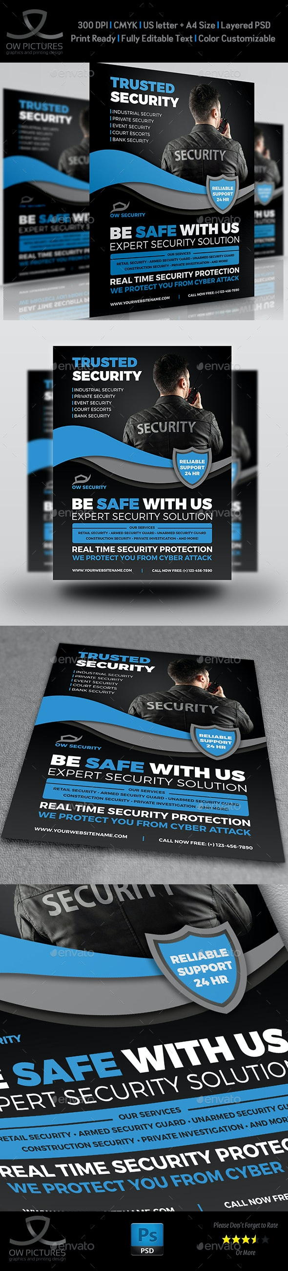 Security Services Flyer Template - Flyers Print Templates