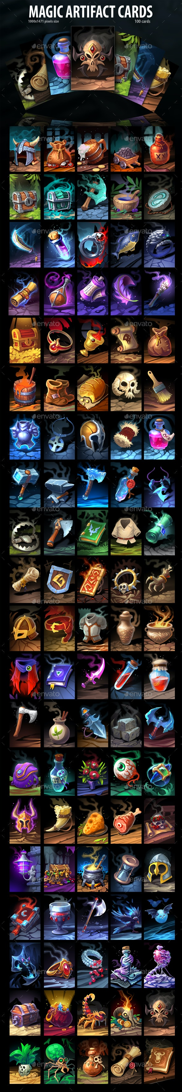Magic Artifacts Cards - Miscellaneous Game Assets