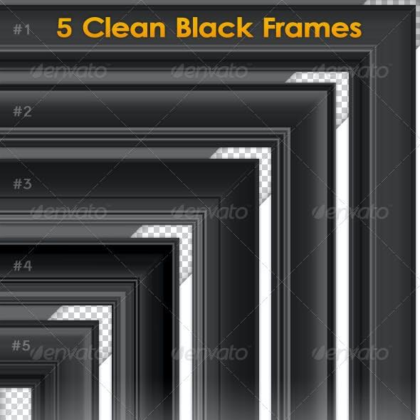 5 Clean Black Frame