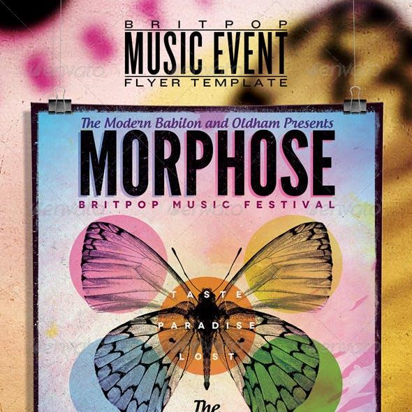 Britpop Music Festival Flyer/Poster