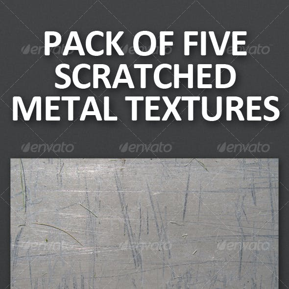 Pack of 5 Scratched Metal Textures