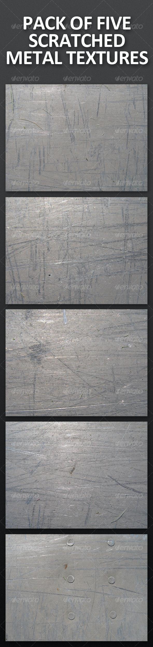 Pack of 5 Scratched Metal Textures - Metal Textures