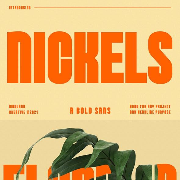 Nickels Bold Sans Serif